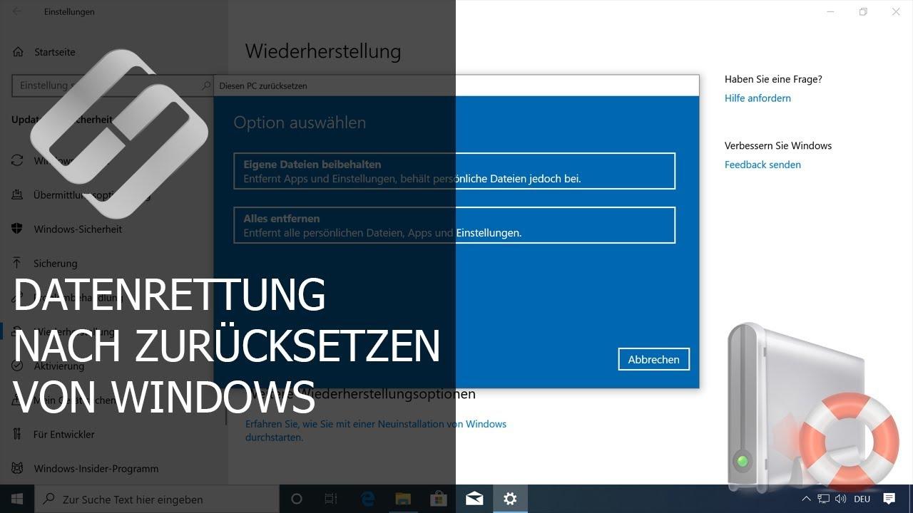 Datenwiederherstellung nach der Neuinstallation von Windows
