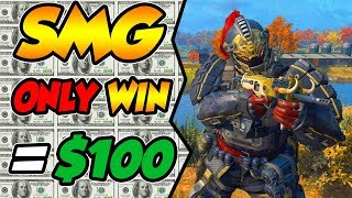 CoD BLACKOUT   iNTENSE SMG ONLY CHALLENGE FOR MONEY!!! (DiD i END UP WiNNiNG THE $100?)