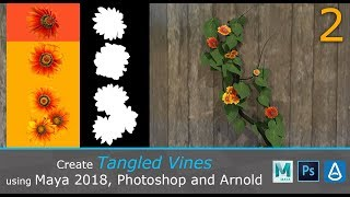 Create Tangled Vines in Maya/Photoshop/Arnold (2/3)