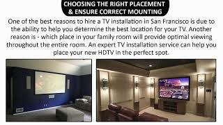 Get Professional TV Installation San Francisco