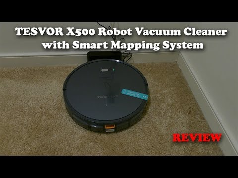 TESVOR X500 Robot Vacuum Cleaner with Smart Mapping System FULL REVIEW