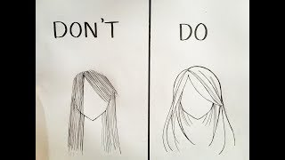 Dos And Donts In Drawing Hair