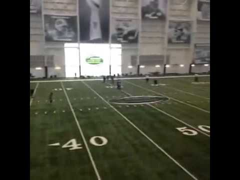Lauren Silberman's NFL Combine Try-Out Kicks on March 3rd 2013