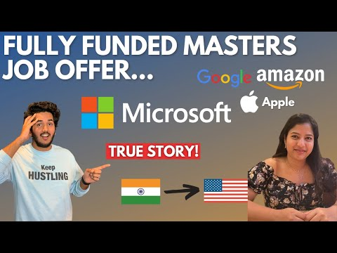 I Completed My Masters With NO Tuition Fee and Got A Job In Microsoft!