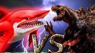 КРОВАВЫЙ МЕГАЛОДОН vs ГОДЗИЛЛЫ! Смертельная Схватка!