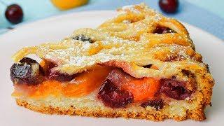 Очень простой, но обалденный фруктовый пирог - съедается мгновенно!