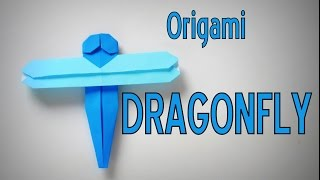 Origami - How To Make A DRAGONFLY