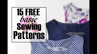 15 FREE Basic Sewing Patterns For Capsule Wardrobe | Alisa Shay