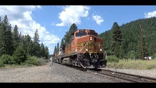 2 Trains on the BNSF Gateway Subdivision