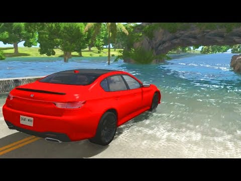 BeamNG Drive - High speed Water sliding Crashes #3