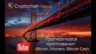 Прогноз курса криптовалют Bitcoin, Monero, Bitcoin Cash. Счколько будет стоит биткоин завтра?