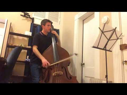 Mozart Symphony No.39 4th Movement (double bass excerpt) Take #1