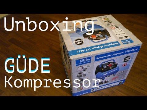 Kompressor Güde 190/08/6  Unboxing