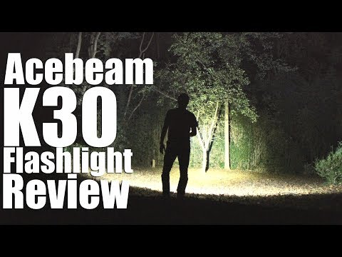 Acebeam K30 Flashlight Review.  A beer can sized 5000 lumen torch.