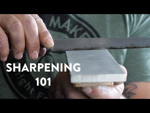 BLADESMITHING | How To Sharpen Your Kitchen Knives | Basics