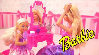 Fairy Gift ! Toys And Dolls Fun Playing With Chelsea & Barbie Fairytales Vanity Toy Set | SWTAD