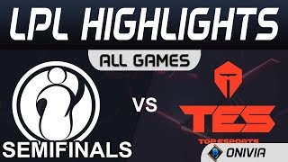 IG vs TES ALL GAMES Highlights Semifinals LPL Spring Playoffs 2020 Invictus Gaming vs TopEsports LPL
