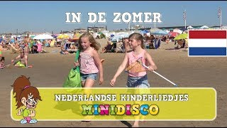 Kinderliedjes | Video | Strand |  IN DE ZOMER | Minidisco