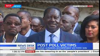 NASA leaders led by Raila Odinga accompany victims killed during Raila Odinga's return