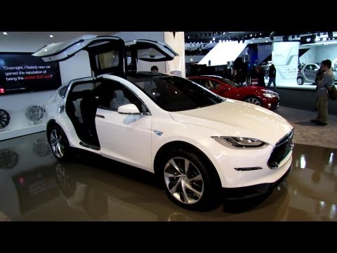 2014 Tesla Model X at Detroit Auto Show