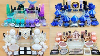 4 in 1 Video COLLECTION | MINT - PURPLE + SAPPHIRE + Rose GOLD + WHITE Slime Satisfying Slime Videos