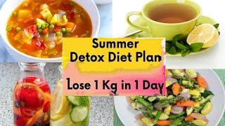 Detox Diet Plan For Instant Weightloss Lose 1kg In 1day| Detox/clean Diet Plan For Extreme Weightlos