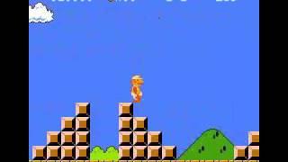 スーパーマリオブラザーズ 壁キック壁抜け裏ワザ神プレイ画像