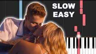 Dan Shay, Justin Bieber   10000 Hours (SLOW EASY PIANO TUTORIAL)