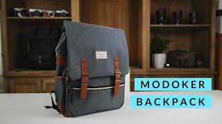 Modoker Vintage Laptop Backpack with USB Charging