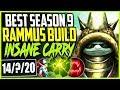 BEST SEASON 9 RAMMUS BUILD TOP LANE INSANE CARRY NOTHING STRONGER TOP Rammus Season 9 Gameplay