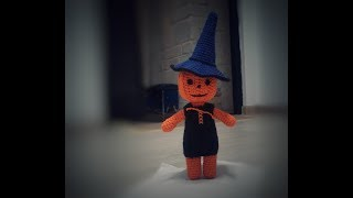 Ведьмочка вязаная крючком на Halloween. Подробное описание.
