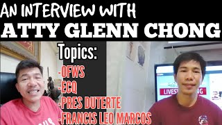 COMMENT NI ATTY GLENN CHONG KAY FRANCIS LEO MARCOS