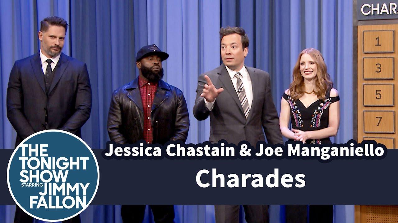 Charades with Jessica Chastain and Joe Manganiello thumbnail