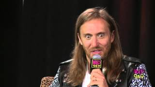 David Guetta talks about not being distracted by Nicki Minaj's assets.