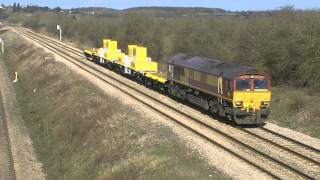 preview picture of video 'Midland Mainline Near Radwell 24.02.2012'