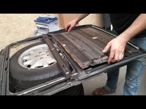 Как разобрать люк BMW е36?