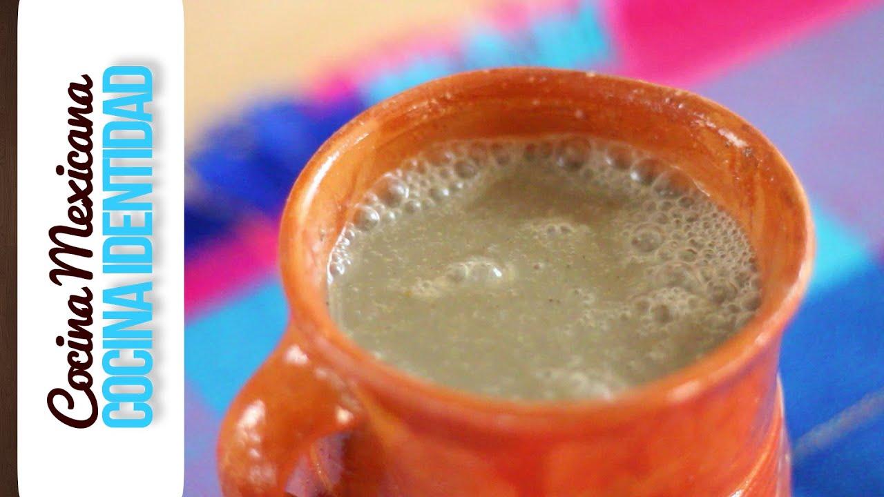 Cómo hacer Atole de Pinole. Yuri de Gortari.  Recetas Mexicanas. Gastronomía Mexicana