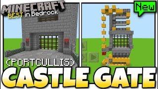 Minecraft - CASTLE GATE ( Portcullis )[ Tutorial ] MCPE / Bedrock / Xbox / Switch