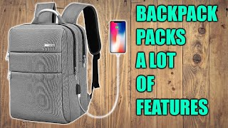 HOMIEE Laptop Backpack with USB Charging Port Review