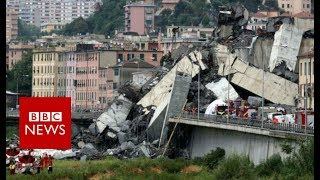 Italy bridge: Genoa motorway collapse kills at least 22 - BBC News