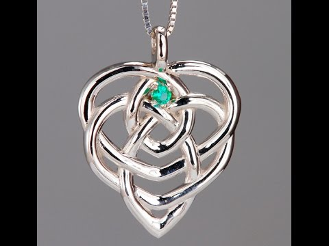 Celtic Mothers Birthstone Pendant One Stone*