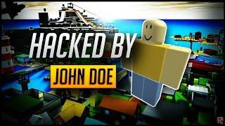 I GOT HACKED ON ROBLOX BY JOHN DOE !? 3/18/2017