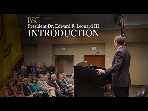 President Dr.  Edward Leonard III Introduction