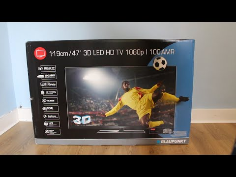 Blaupunkt 47'' Full HD 1080p 3D LED TV unboxing & reviews