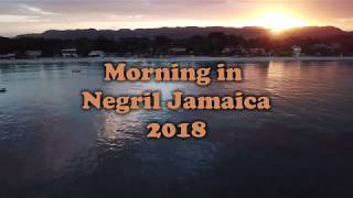 Negril Jamaica 7 Mile Beach by Mavic Pro Drone (Morning Flight)