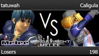MNM 198 - tatuwah (Marth) vs Caligula (Sheik) Losers - Melee
