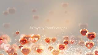 Valentine's Day romantic background effect | heart background animation | Hearts motion background