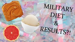 LOSE 10 POUNDS IN 3 DAYS?! | THE MILITARY DIET | RESULTS