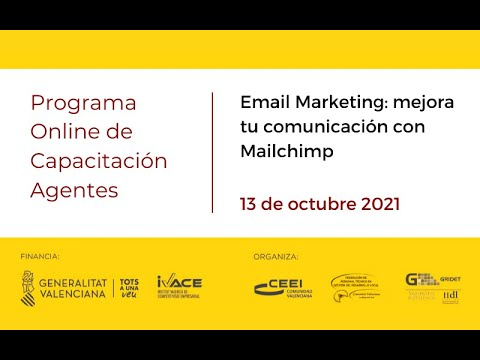 Email Marketing: mejora tu comunicación con Mailchimp[;;;][;;;]