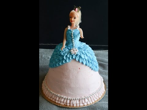 Video How To Make / Decorate Barbie Cake / Doll Cake - Gayathri's Cook Spot